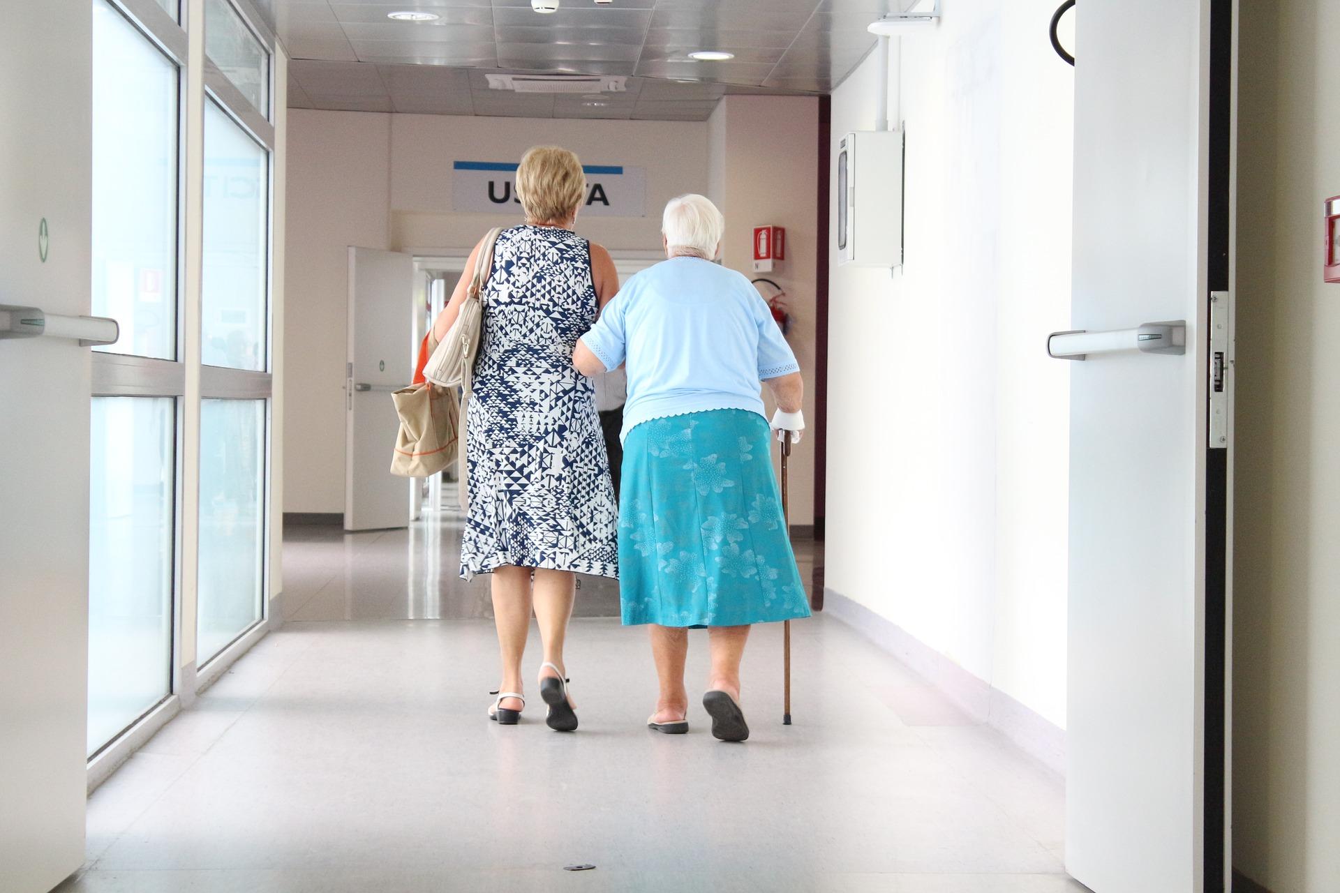 Kobieta w szpitalu